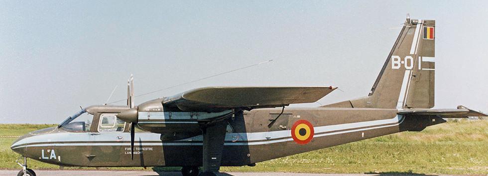 Islander B-01/LA at Goetsenhoven airbase on 28 June 1995.