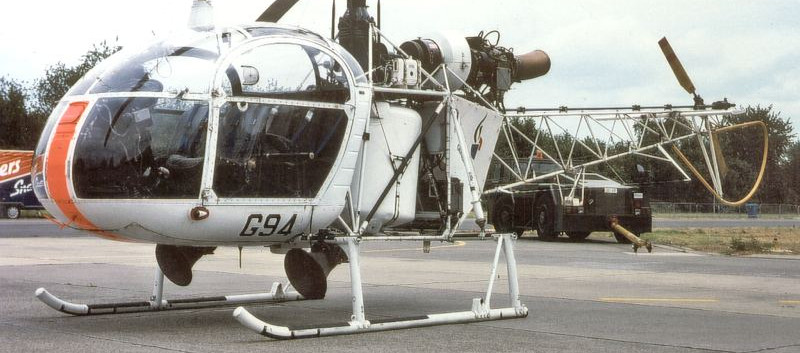 Aerospatiale Alouette II G-94 at Beauvechain airbase in 1997.