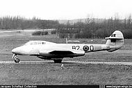 Gloster Meteor T.7 ED-2/B2-0 of the Fighter School at Koksijde.
