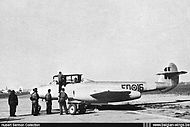 Gloster Meteor T.7 ED-16 at Melsbroek airbase in the mid-fifties