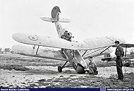 Stampe Vertongen SV-4B V-50 nosed over at Goetsenhoven during an engine test on 15 July 1954.