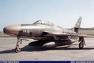 Republic RF-84F Thunderflash FR-34 at the Bierset airshow on 22 June 1969.