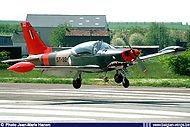 Siai-Marchetti SF-260M ST-32 landing at Brustem airbase in September 1995.