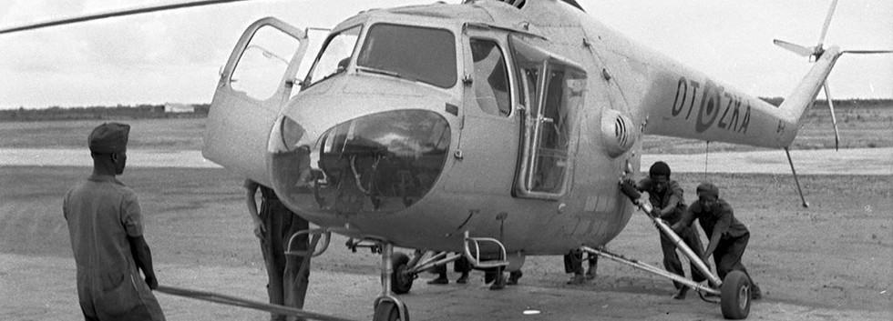 Bristol 171 Sycamore HR.14B B1/OT-ZKA at Kamina airbase.