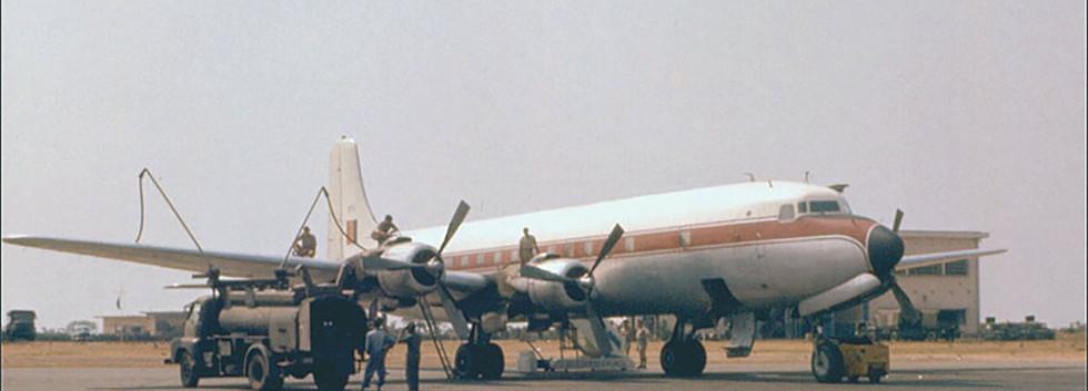 Douglas DC.6A KY-1/OT-CDA at Kamina Airbase (former-Belgian Congo) in May 1960.