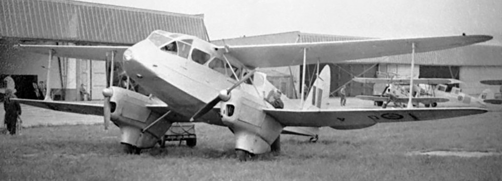 De Havilland DH.89A Dominie D-4 during a temporarily deployment to Goetsenhoven in 1951-52.