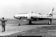 Republic RF-84F Thunderflash FR-17/8H-R seen at Wahn (D.) airbase in 1956.