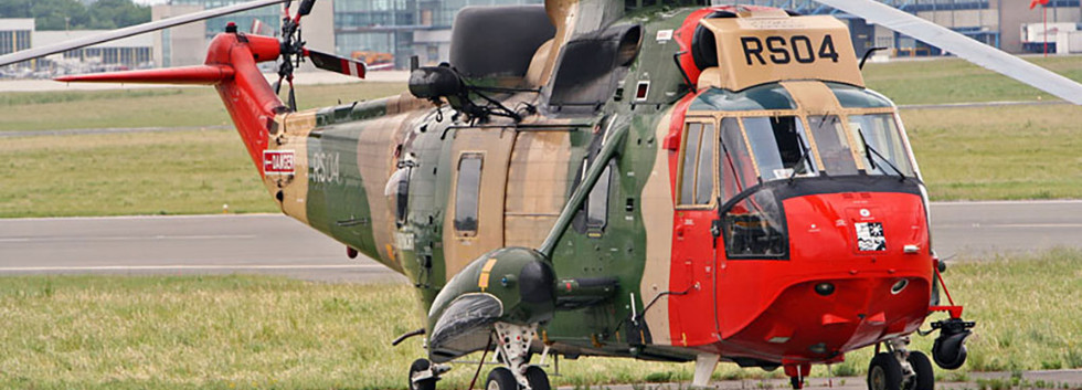"""N° 40 Squadron Westland Seaking Mk.48 RS-04 during the """"Helimeet"""" at Bierset airbase on June 4th, 2005."""