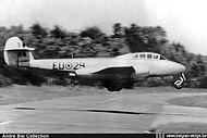 Gloster Meteor T.7 ED-29 landing.