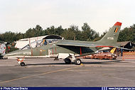 """Alpha Jet AT-05 received this """"one off"""" camouflage scheme in 1992 (no brown color in stock anymore?). The aircraft is seen during the Florennes airshow on 12 September 1992."""