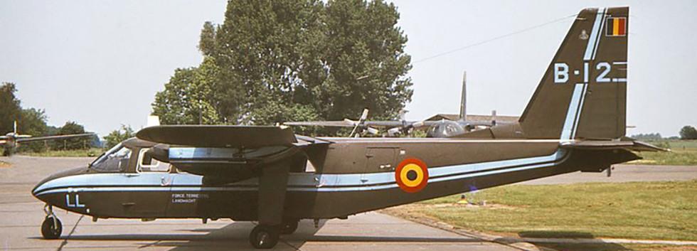 Light Aviation's Britten Norman BN2B-21 B-12 at Beauvechain on June 20th, 1984.
