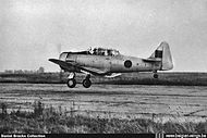 North American AT-6D Harvard III H-1 landing at Brustem airbase in the late '40s.