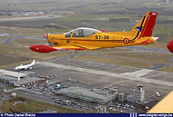 SIAI Marchetti SF260M ST-30 over Oostende airport on 12 February 2009.