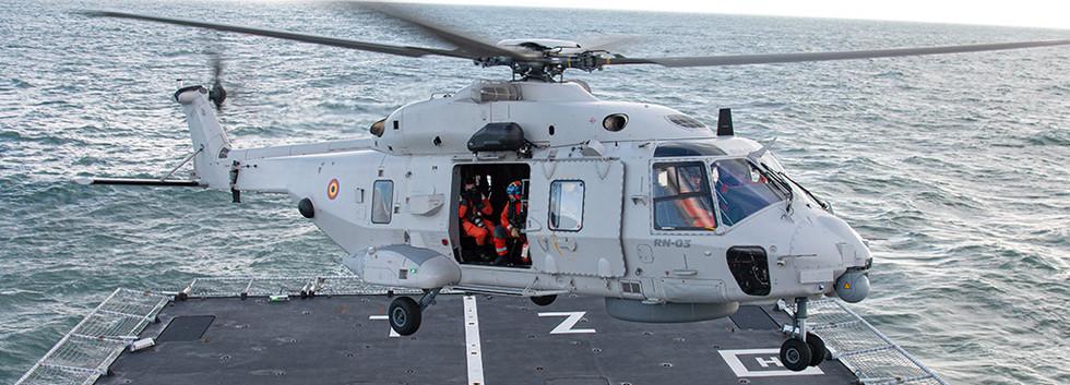 RN03 landing on the ocean-going patrol vessel - OPV Zr. Ms.Zeeland off Den Helder on 11 February 2016.