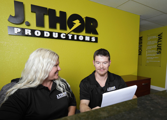 J. Thor Productions Team Working Together