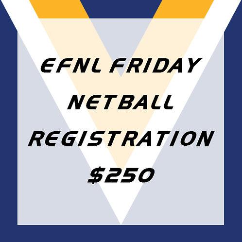 Netball Player Registration (EFNL Fridays)