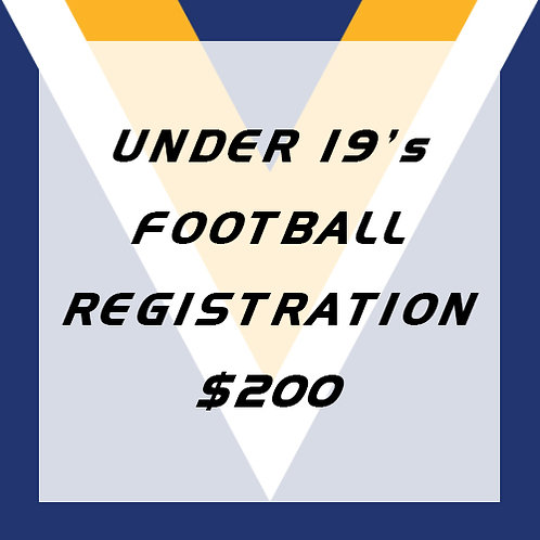Under 19's Football Player Registration