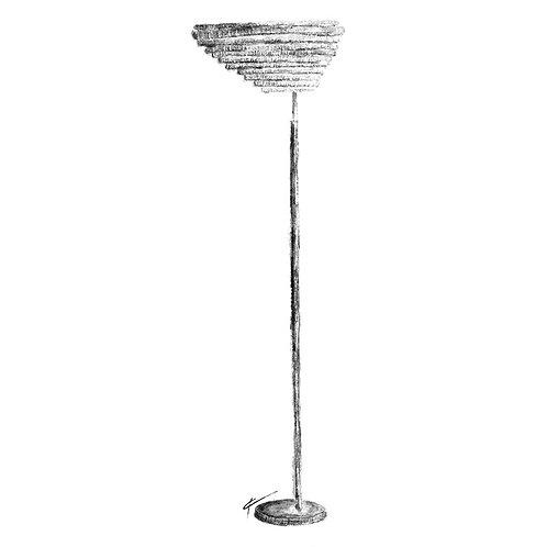 A805 Angel Wing Floor Lamp Print