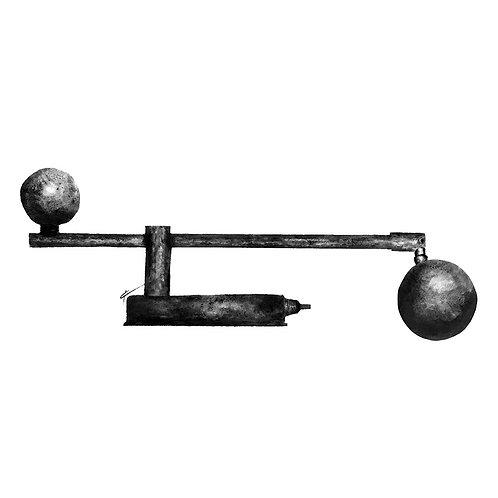 De Stijl Piano Lamp Print