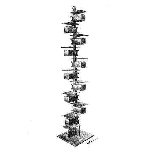 Taliesin II Floor Lamp Print
