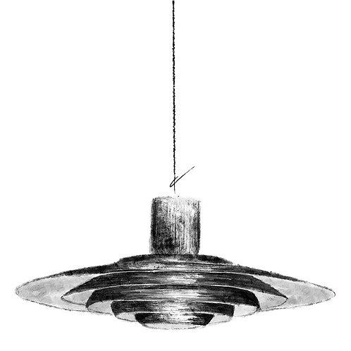 P376 Ceiling Lamp Print