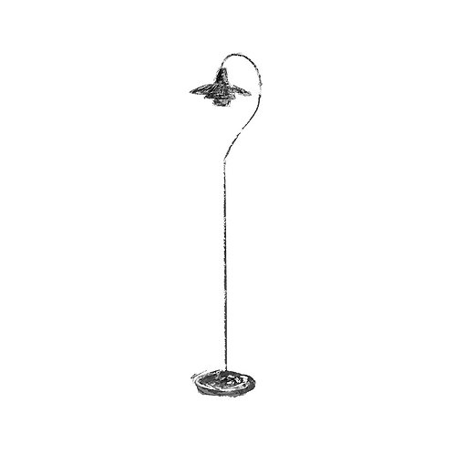 Question Mark Floor Lamp Print