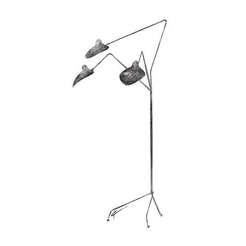 3 Arms Standing Floor Lamp Print