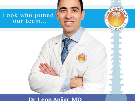 Spine and Wellness Centers of America Welcomes Dr. Leon Anijar