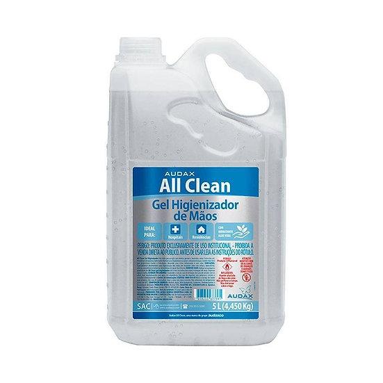 Álcool Gel 70 Antisséptico Para as Mãos 5 Litros Audax All Clean