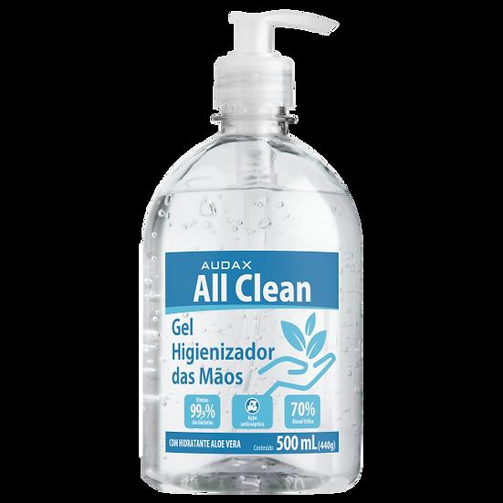 Álcool Gel 70 Antisséptico Para as Mãos 500 ml Audax All Clean