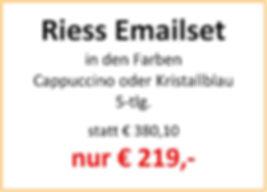 Riess Emailset Cappuccino und Kristallbl
