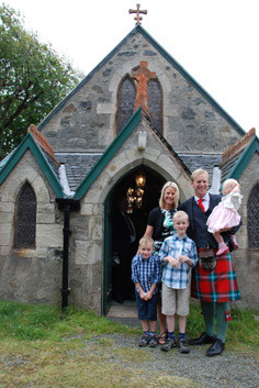 The Baptism of Gregor and Natalie (the Chief's grandchildren)
