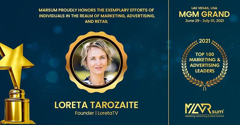Top 100 Marketing Leaders in the U.S Loreta Tarozaite
