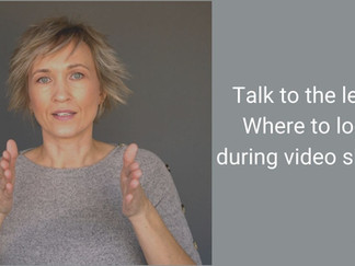 On-camera tip: where to look during video shoot?