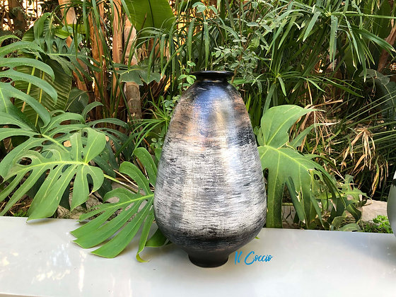 Brushed Black Vase