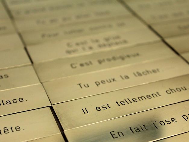 Les phrases Kléber.  Crédit photo : Magali B. Marchand
