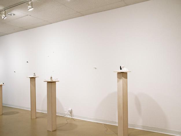 Dans l'expectative / Exposition collective à la Galerie d'art du Collège d'Alma, Alma, Québec (2015)