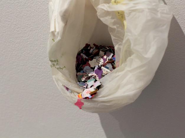 Les confettis (confettis trouvés dans les rues en France et en Suisse)  Crédit photo : Gabriel Fortin