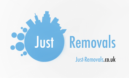 Company logo Just Removals man with van Bristol