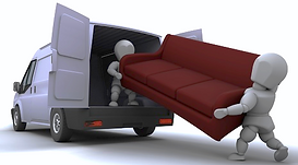 man with van in Bristol lifiting a sofa into a home removals van