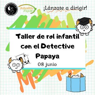 Taller de rol infantil con el Detective