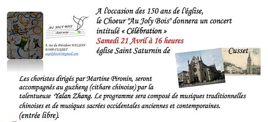 Invitation concert du choeur Au Joly Bois