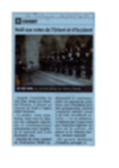 Photo article journal sur concert du choeur Au Joly Bois