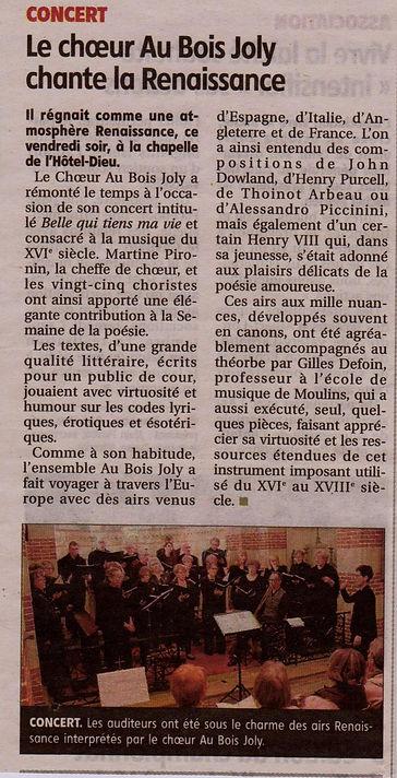 2019-03-25 La Montagne Concert du  16 Ma