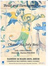 Affiche concert du 16 mars 2019 de l'ensemble Au Joly Bois