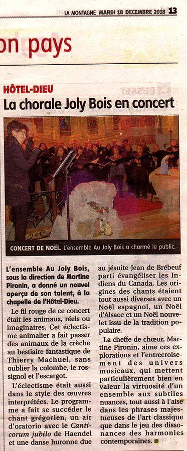 Photo article journal sur concert Au Joly Bois