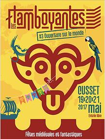 Affiche concert du choeur Au Joly Bois Les Flamboyantes 2017