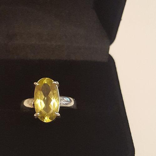 Anel de prata com green gold