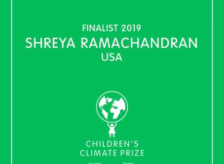 Children's Climate Prize Finalist