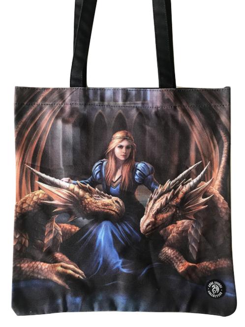 Anne Stokes 'Fierce Loyalty' Tote Bag